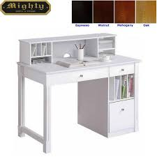 Home Reading Room Hutch Top White Office Desk Furniture Wd 4189