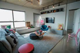 concrete cement and creative lighting space savvy apartment in