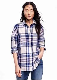 old navy boyfriend plaid shirt for women casual shirts shop it