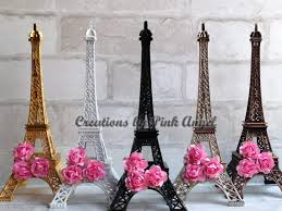 eiffel tower centerpieces 10 inch eiffel tower centerpiece black eiffel tower silver
