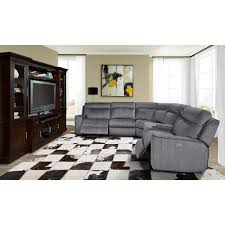 Straight Sectional Sofas Parker House Mpar 6pc Sectional Parthenon 6 Piece Sectional Sofa