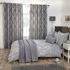 blossom silver grey floral jacquard luxury duvet cover all