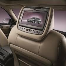 toyota highlander dvd headrest acadia dvd headrest system titanium leather the dual dvd rear