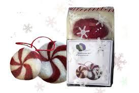 needle felting kit diy craft kit peppermint candy wool