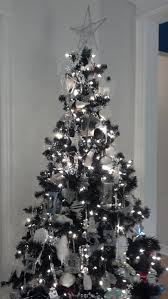 black christmas trees white and silver christmas tree just decorate