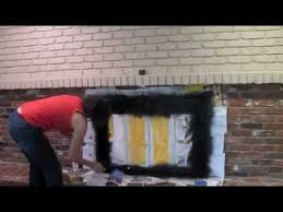 Brick Fireplace Paint Colors - how to paint an old brick fireplace diy tutorial thrift diving