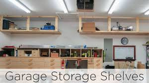 Build Wood Garage Cabinets by Wasted Space Garage Storage Shelves 202 Youtube