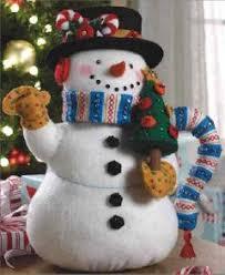 engelbreit bucilla snowman tea pot felt kit felt crafts