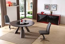 contemporary round wenge dining table w glass lazy susan