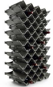 six interesting modern wine racks