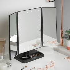 jerdon style euro design tri fold lighted mirror beautify led lighted vanity trifold makeup shaving mirror reviews