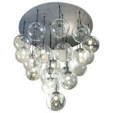 Glass Balls Chandelier Two Large White Foggy Glass Ball Chandeliers 1960s For Sale At