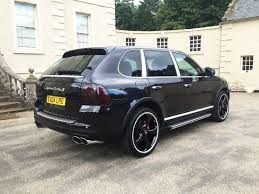 porsche cayenne all black porsche cayenne turbo low miles 450bhp techart black edition in