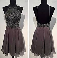 winter graduation dresses spaghetti straps grey open back homecoming dresses backless