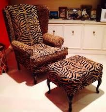 Zebra Chair And Ottoman Designer Wingback Chair Ottoman Luxurious Zebra And Cheetah