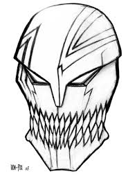 15 images of hollow mask coloring pages ichigo hollow mask