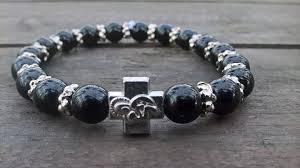 black prayer beads bracelet images Handmade christian black glass prayer beads bracelet exyshop jpg