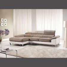 canapé cuir et microfibre canapé cuir canapé d angle contemporain bicolore pour salon design