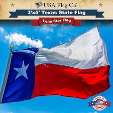 3 X 5 Flags Texas Flag 3x5 Foot Fully Sewn Design Usa Flag Co