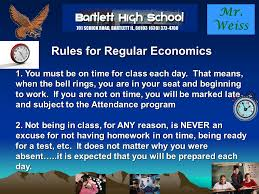 class bell rings images Mr weiss rules for regular economics 1 you must be on time for jpg