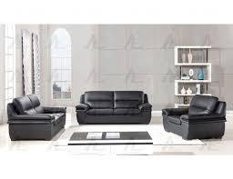 Loveseat Black Leather Black Center Divinity