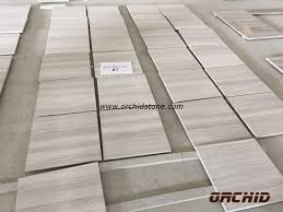 buy honed white wood grain marble flooring tile honed white wood