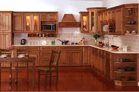 Wood Kitchen Cabinets by Kitchen Attractive L Shape Kitchen Decoration Using Dark Brown