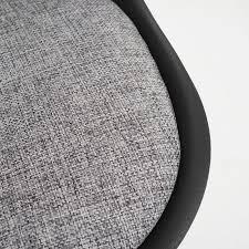 Esszimmerstuhl Textil 2x Esszimmerstuhl Malmö T501 Retro Design Schwarz Sitzfläche