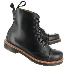 womens boots dr martens charlton 8 eye black polished smooth dr martens boots sale price