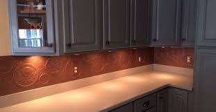 copper backsplash for kitchen diy kitchen copper backsplash hometalk