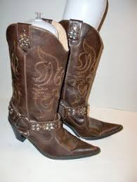 womens brown cowboy boots size 9 dingo slouch fringe lined s cowboy boots