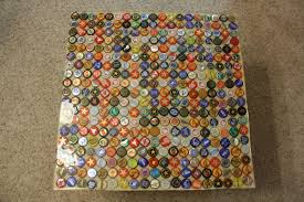 beer cap table top everything helvatica bottle cap table top