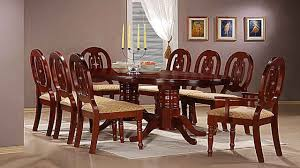 Mahogany Dining Table With  Chairs And  Carvers Homegenies - Mahogany dining room sets