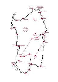 Sardinia Map Wild Sardinia 6days 5nights