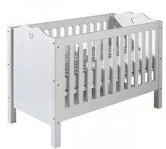 chambre bébé laqué blanc lit à barreaux laqué blanc coeur 60 x 120 cm modéle sans tiroir