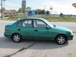 hyundai accent green 2001 jade green hyundai accent gl sedan 20079617 photo 8