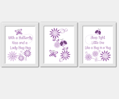 Lavender Rugs For Nursery Purple Baby Nursery Wall Art Purple Lavender Ladybug