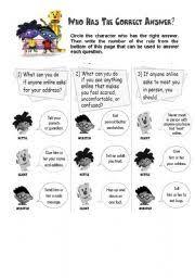 english teaching worksheets internet safety