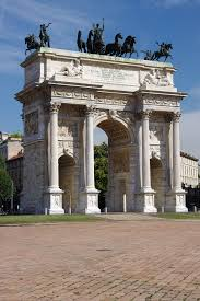 neoclassical style dolphin center or neoclassical architecture in milan