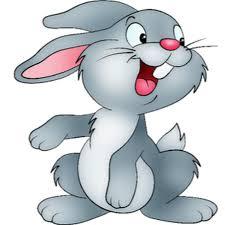 100 rabbit clip art image black white