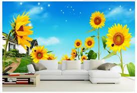 foto wallpaper bunga matahari kustom 3d wallpaper untuk dinding 3 d dinding mural wallpaper bunga