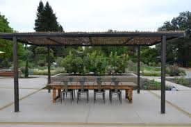 Metal Pergola Frame by Just Completed Woven Willow Canopy With Steel Frame Pergola