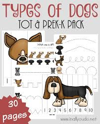 Types Of Dogs Types Of Dogs Tot U0026 Prek K Pack In All You Do