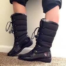 womens black winter boots size 9 38 totes shoes totes liz winter boots size 9 med