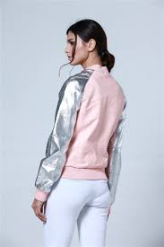 pink leather motorcycle jacket spring and autumn womens pu zipper pink leather motorcycle jacket