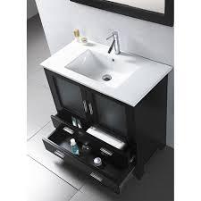 virtu usa bathroom vanity set in espresso free shipping ag am015