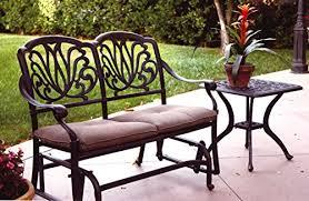 bench design awesome cast aluminum patio bench black cast