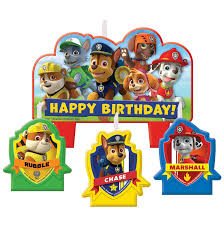paw patrol candle set birthdayexpress