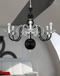Crystal And Chrome Chandelier Chandeliers 118 6 Ch Chrome Black Crystal Chandelier Grandoluce