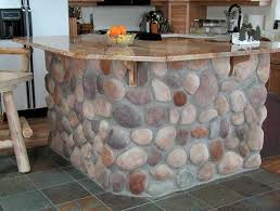 river kitchen island 35 amazing ideas adding river rocks to your home design